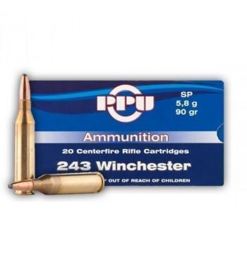Munitions243 Winchester boîte de 20 - 90Gr SP