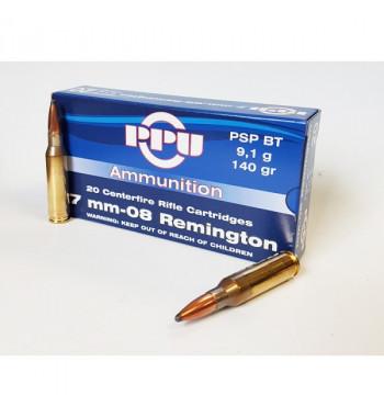 Munitions 7 mm-08 Remington boîte de 20 - 140Gr PSP BT