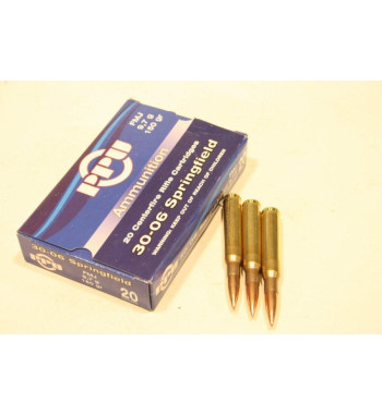 Munitions 30-06 Springfield boîte de 20 - 150Gr FMJ