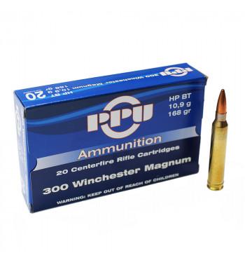 Munitions 300 Winchester Magnum boîte de 20 - 168Gr HP BT