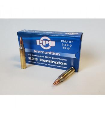Munitions 223 Remington boîte de 20 - 55Gr FMJ BT