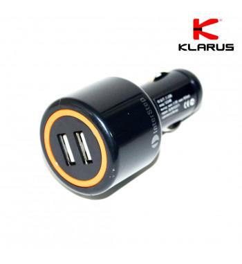 Adaptateur allume-cigare prise double pour cordon de chargement USB